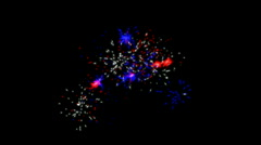 holiday fireworks and particle at night.abstract,backgrounds,animation, - stock footage
