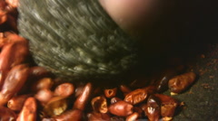 Grinding chili Stock Footage