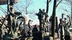 Bronze sculpture Stock Footage