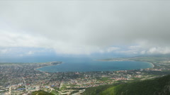 Time lapse of  Gelendzik city bay Stock Footage