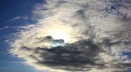 Sun in sky timelapse Stock Footage