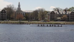 Harvard boat 2 Stock Footage