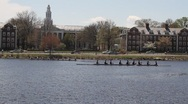 Stock Video Footage of Harvard boat 2