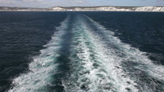 The wash behind a car ferry between Dover, UK and Calais, France Stock Footage