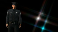 Policeman on Duty 1 Stock Footage
