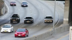 HD Time Lapse Cars in LA Stock Footage