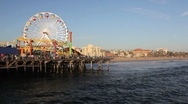 Stock Video Footage of Santa Monica Pier