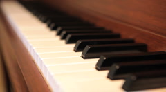 Beginner Piano Stock Footage