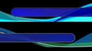 Two Looping Abstract Lower Thirds R822 Stock Footage