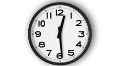 Simple Clock Stock Footage