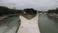 Italy - Rome - Tiber Island Stock Footage