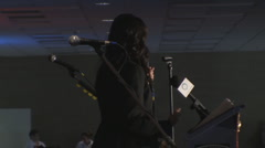 "Katrina Pierson - Dallas Tea Party - ""Movement Growth Speech"" in Iowa Stock Footage"