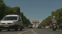 The Arch de Triumph in Paris, traffic (three) Stock Footage