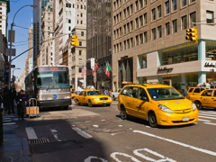 New York Fifth Avenue Time-lapse Cars Pedestrians Traffic – 640x480 Stock Footage
