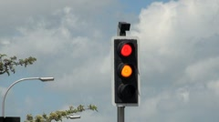 Traffic Lights Sequence Red to Amber to Green - stock footage