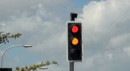 Traffic Lights Sequence Red to Amber to Green Stock Footage