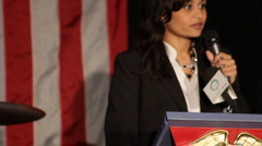 "Katrina Pierson - Dallas Tea Party -  ""Strength of Movement Speech"" Stock Footage"