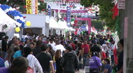 Stock Video Footage of Festival Crowd in Los Angeles on Broadway