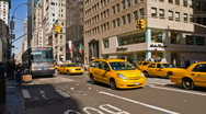 Stock Video Footage of New York Fifth Avenue Time-lapse Cars Pedestrians Traffic – HD