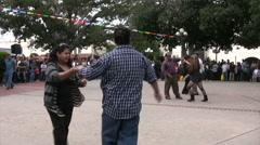 Salsa Dancing at Cinco De Mayo Celebration - Medium Wide Stock Footage