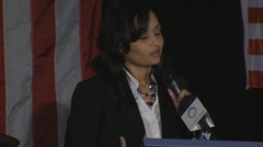 Katrina Pierson - Dallas Tea Party - Speech in Iowa Stock Footage