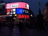 Stock Video Footage of Piccadilly Circus at Night, London England GFSD