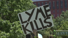 Lyme Disease awareness rally Stock Footage