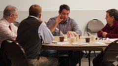 Mark Meckler and Mike George at meeting with advisors Stock Footage