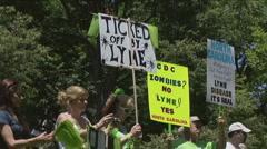 Lyme Disease awareness rally Stock Footage