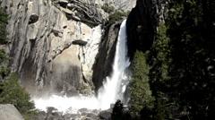 Waterfall at Yosemite National Park Stock Footage