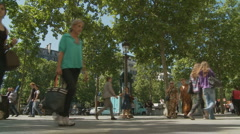 Shopping in Paris (near The Arch de Triumph) - stock footage