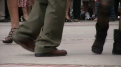Salsa Dancing at Cinco De Mayo Celebration - Dancer's feet Stock Footage