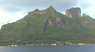 Bora Bora zooms out from island Stock Footage