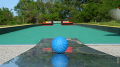 Mini golf - stock footage