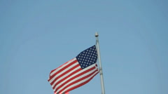 American Flag in Breeze Stock Footage