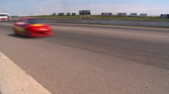 Motorsports, Chumpcar race, #23 front straight  through frame Stock Footage