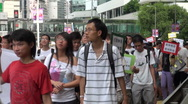 Stock Video Footage of Pro Cantonese rally, Hong Kong, China demonstrations, news footage