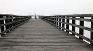 Empty fishing pier Stock Footage