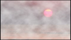 Sunrise over the ocean, fogy effect - stock footage