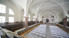 Interior German Saint Peter's church Stock Footage