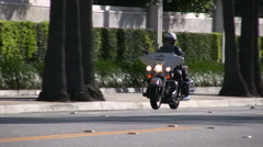 Motorcycle Police Officer Stock Footage