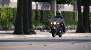 Stock Video Footage of Motorcycle Police Officer
