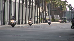 Police Motorcycle Convoy - Obama Visit to Los Angeles 2011 Stock Footage