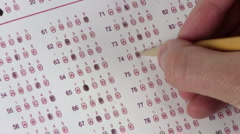 Multiple choice test / erase - HD - stock footage