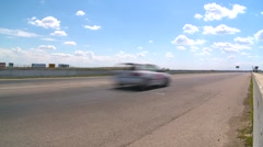 Motorsports, Chumpcar race, #45 front straight wide shot reverse Stock Footage