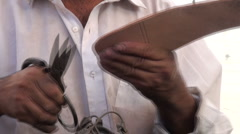 Cutting pohjat vanha sakset Arkistovideo
