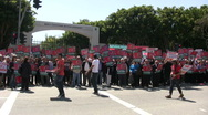 Armenian Genocide Protest - Wide shot Stock Footage
