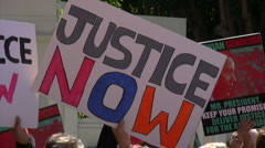 "Armenian Genocide Protest - ""Justice Now"" - stock footage"