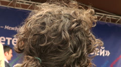 Curly black hair the back of the head Stock Footage