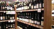 Stock Video Footage of Wine Arbor in Boutique Grocery Market